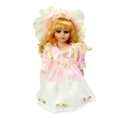 Коллекционная кукла Леди МирославаКуклы<br>Коллекционная кукла Леди Мирослава станет приятным подарком как взрослым, так и детям. Высота 23 см.<br><br>Мирослава одета в роскошное платье пастельных и розовых цветов. На нем присутствуют рюши розового цвета и много бантиков. Атласная ткань идеально сочет...<br>