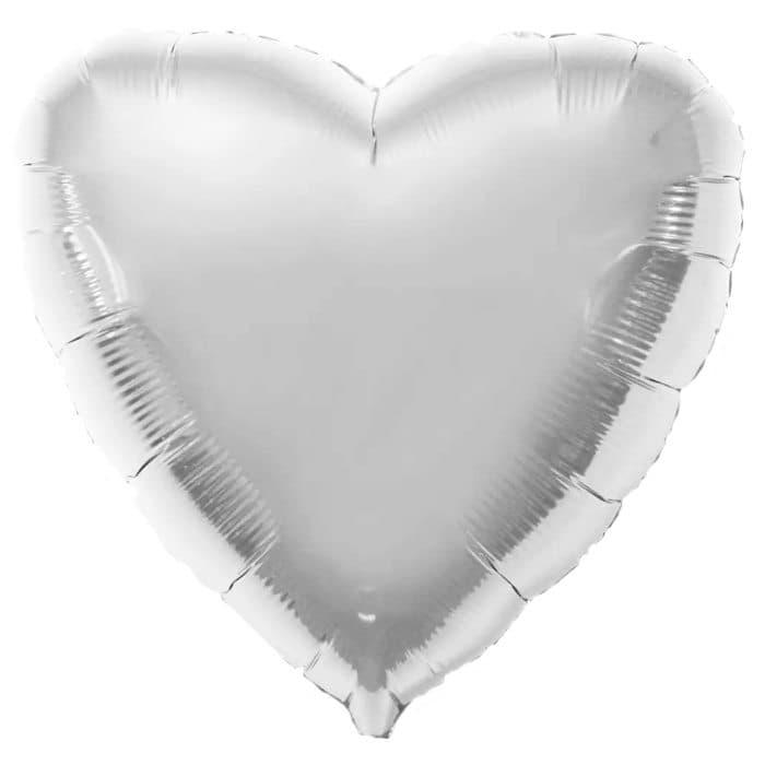 Воздушный шар сердце серебристыйВоздушные шарики<br><br>