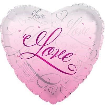 Воздушный шар сердце  розовый Я тебя люблю!Воздушные шарики<br><br>