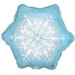 Воздушный шар СнежинкаВоздушные шарики<br>Большой воздушный фольгированный шар в форме снежинки и аналогичным изображением.<br>